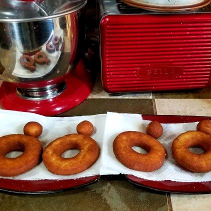 Fried Keto Cake Donuts